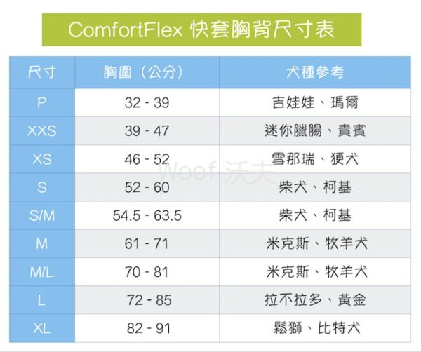 ComfortFlex 快套式運動胸背帶