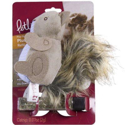松鼠有機貓草填充玩具