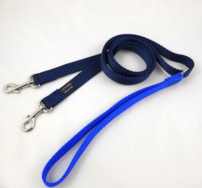 5/8 吋雙扣訓練牽繩藍色
